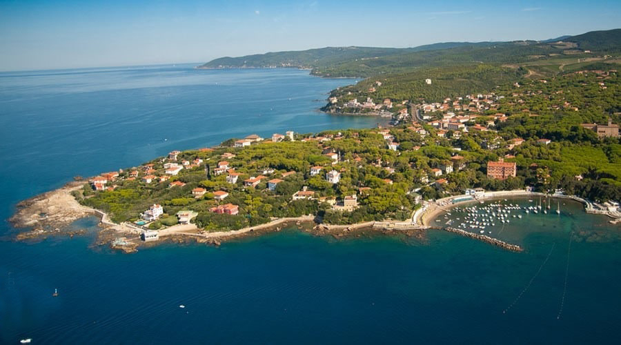 Tuscany coast and sea